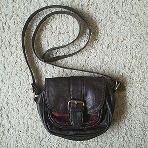 NWOT American Rag Brown leather mini crossbody bag